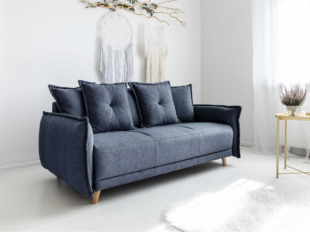 canap 3 places fixe lena bobochic. Black Bedroom Furniture Sets. Home Design Ideas