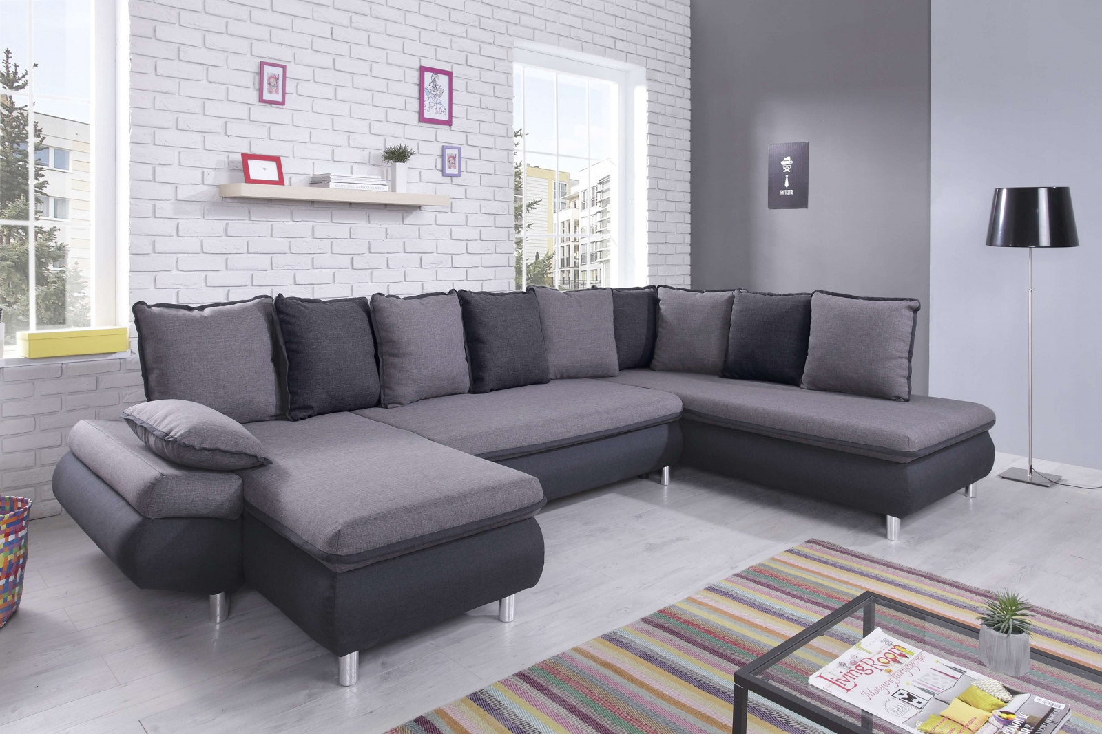 canap en u trendy alma canap duangle u convertible places. Black Bedroom Furniture Sets. Home Design Ideas