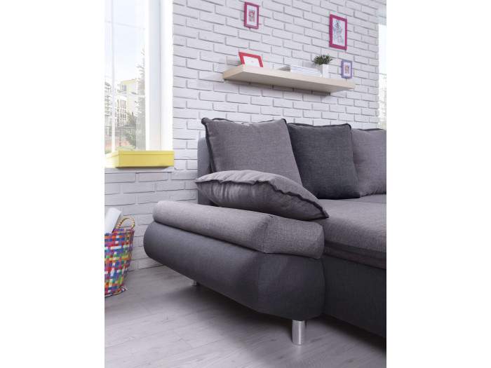 Convertible Panoramic sofa with storage XXL NESTOR