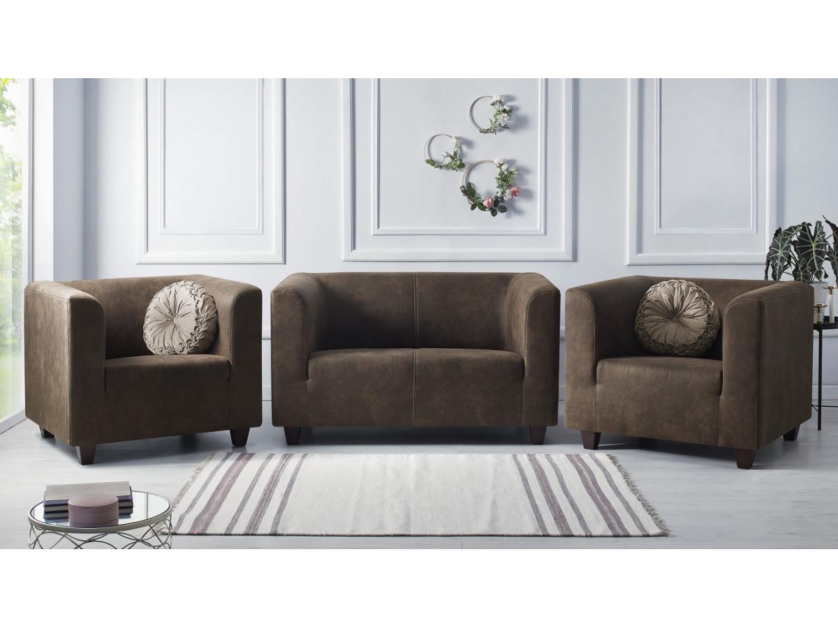 Ensemble Canapé 2 places + 2 fauteuils DJANGO