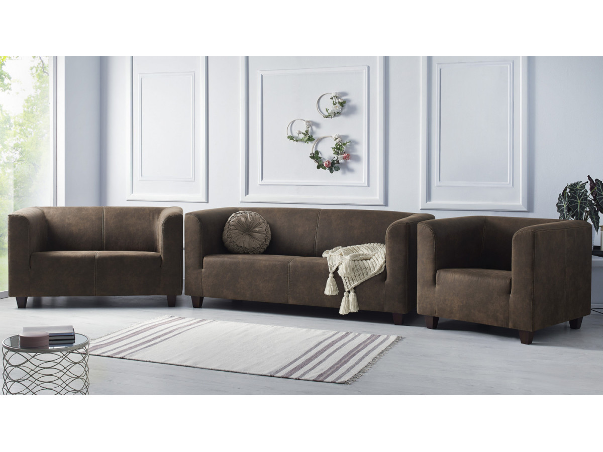 Sofa set 3 seater + 2 seater Sofa + armchair DJANGO
