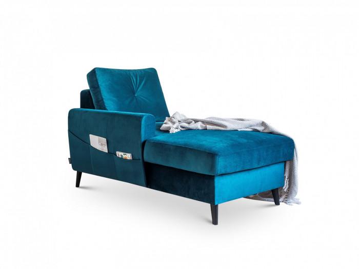 Chaise lounge con caja de seguridad de la SCANDI de terciopelo