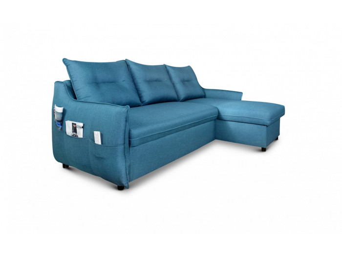 Canapé d'angle réversible convertible coffre JANIS