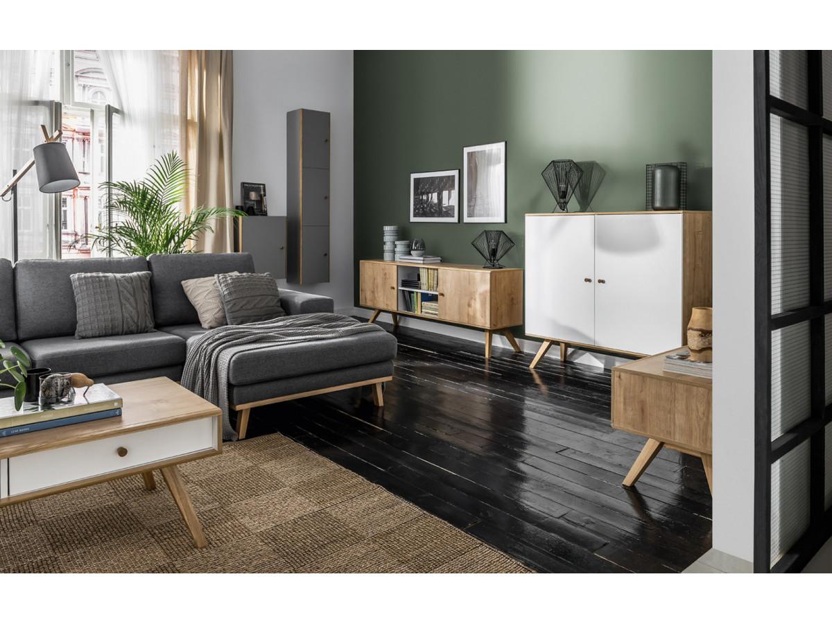 Commode scandinave 3 tiroirs ANAEL Bois massif | BOBOCHIC ®