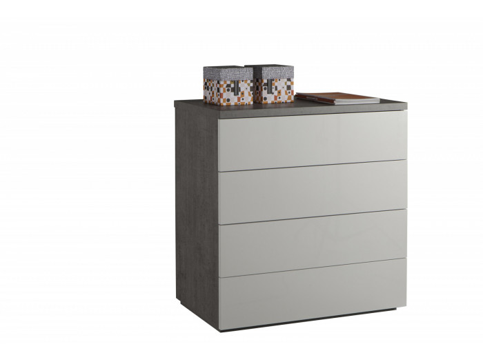 Convenient gray and white 4 drawers ESSENTIAL