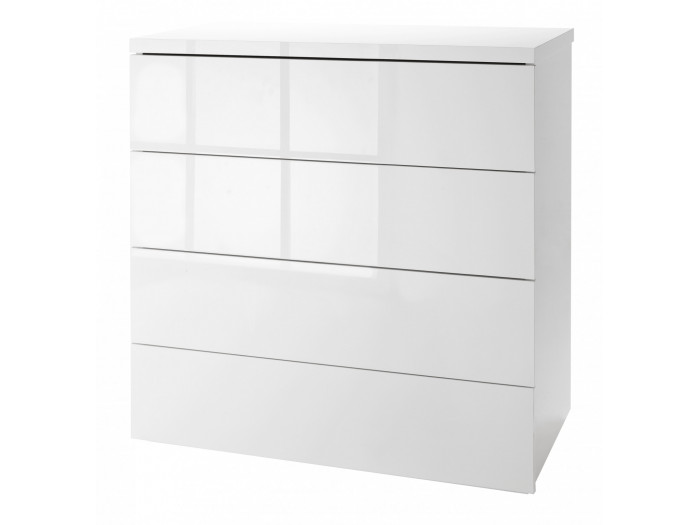 Commode basse blanche 4 tiroirs ESSENTIELLE