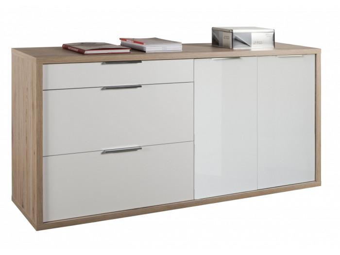 Dresser scandinavian 3 drawer ANAEL solid Wood