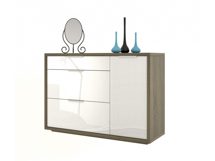 Commode 3 tiroirs 1 porte ESSENTIELLE