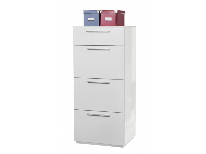 Small wardrobe white 4 drawers ESSENTIAL