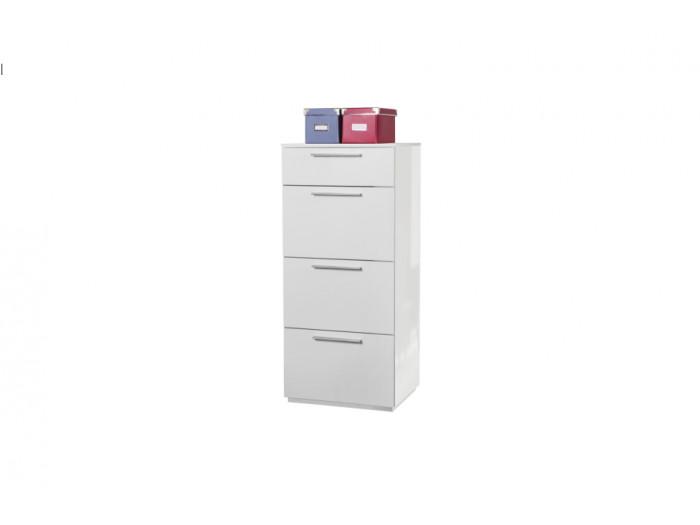 Small wardrobe white 4 drawers ESSENTIAL