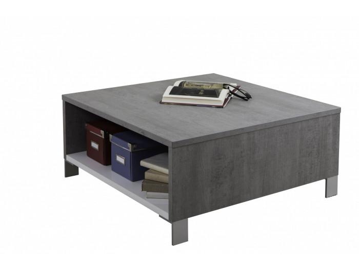 Mesa de café de madera de nogal de barniz Natis