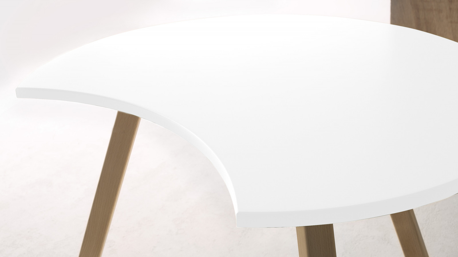 Table basse demi-lune PRISTINA 80