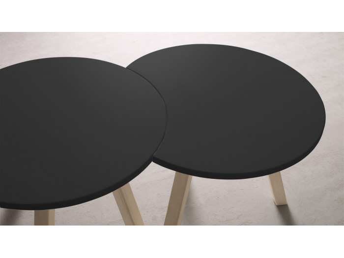 Set round coffee table and half-moon PRISTINA 60