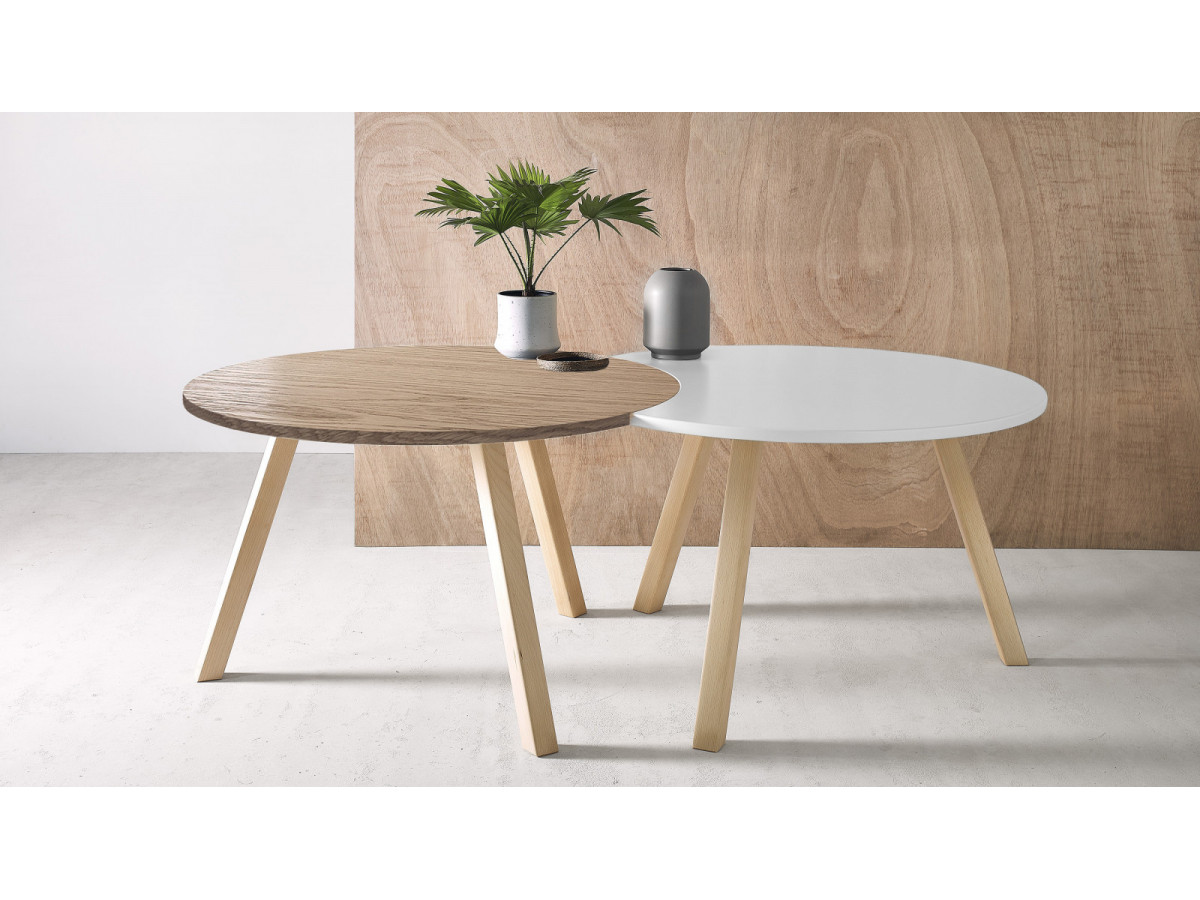 5702e8c8d2 Set round coffee table and half-moon PRISTINA 60 View larger. Previous. Set  ...