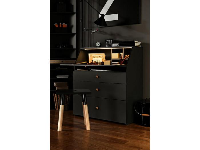 TV stand 3 drawers GRAPHITE