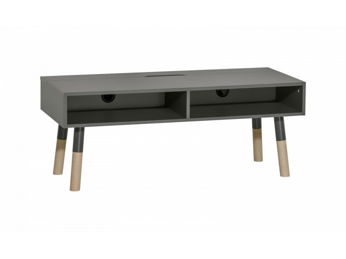 Meuble TV 2 tiroirs GRAPHITE