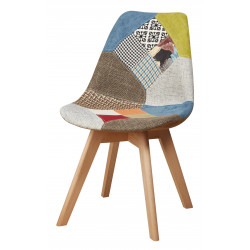 Chaise primera patchwork style scandinave