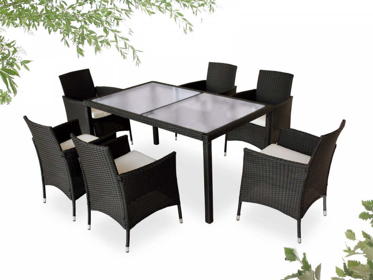 Garden furniture 6 seater wicker CORDOBA