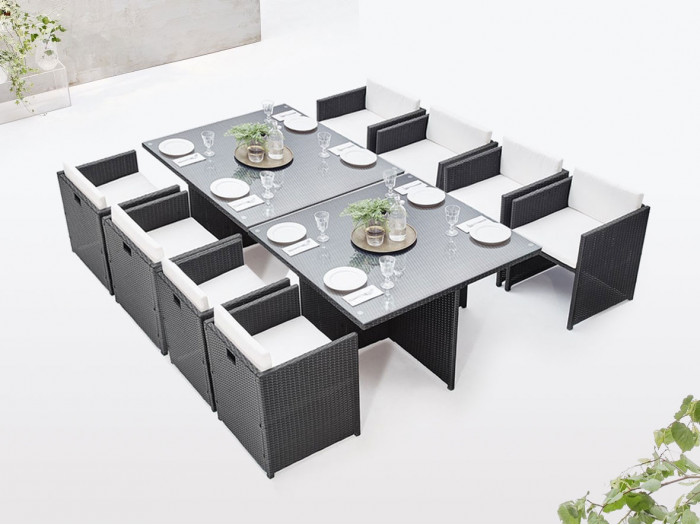 Salon de jardin modulable encastrable FAMILY 8 places