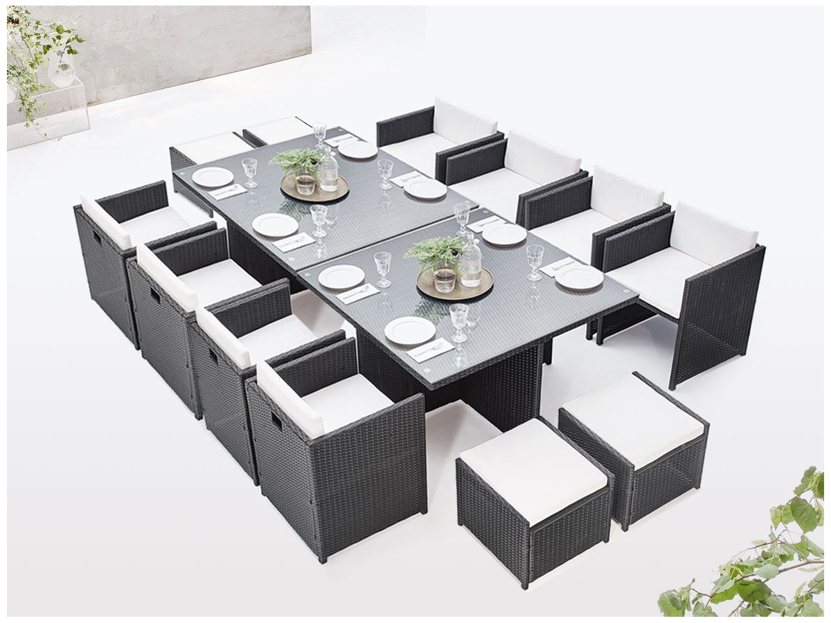 Salon de jardin modulable encastrable FAMILY 12 places | BOBOCHIC ®
