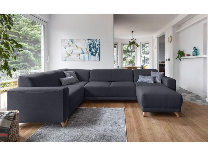 Corner sofa panoramic XXL fixed BELLA