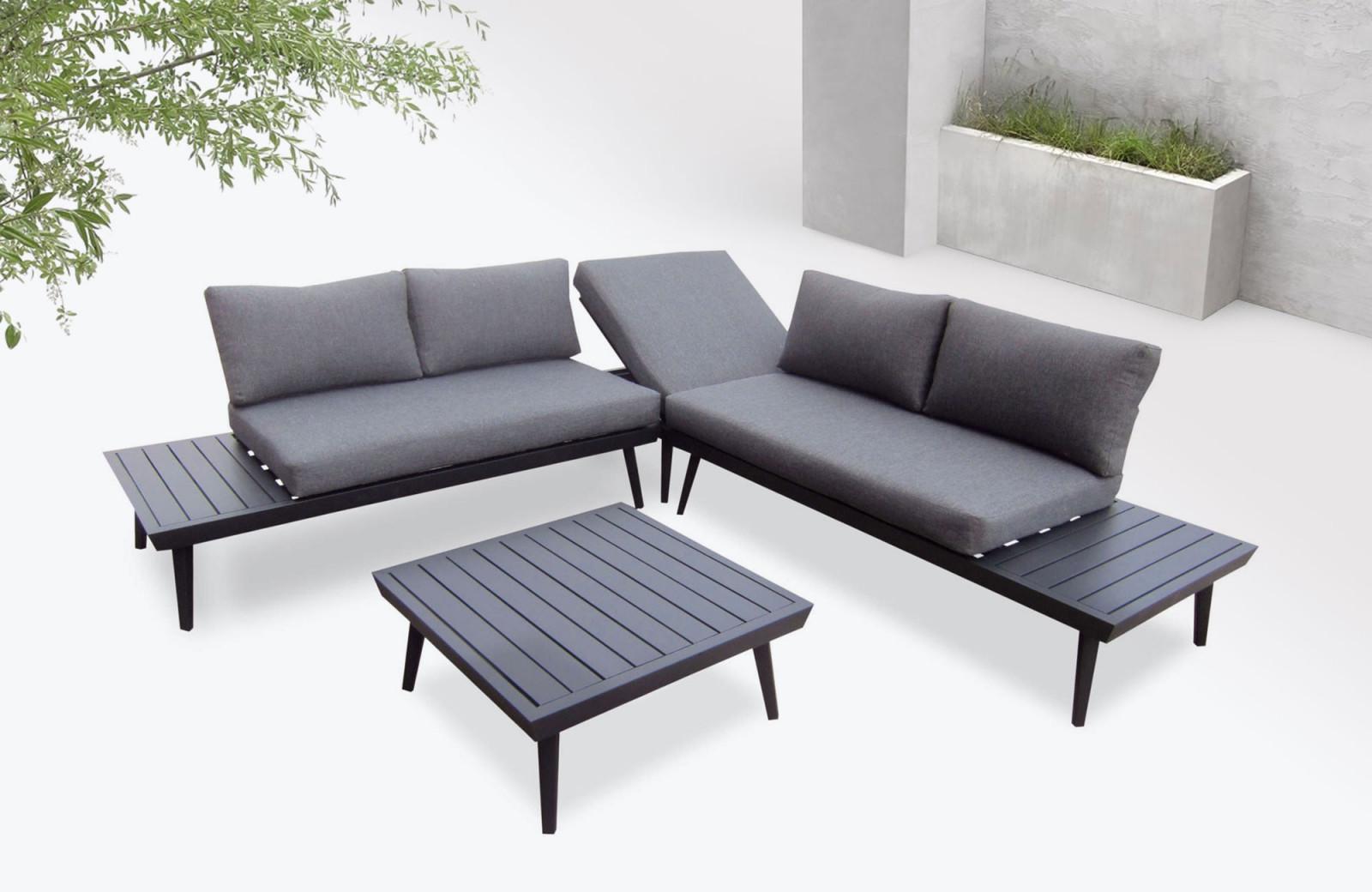 Salon de jardin en aluminium Vigo | BOBOCHIC ®