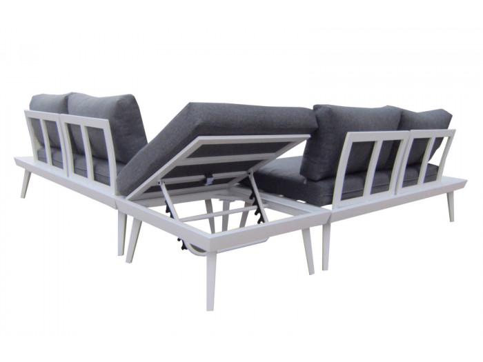 Salon de jardin en aluminium Ibiza