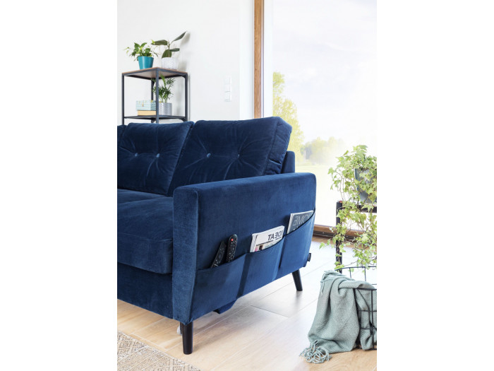 Corner sofa convertible Scandi THE VELVET