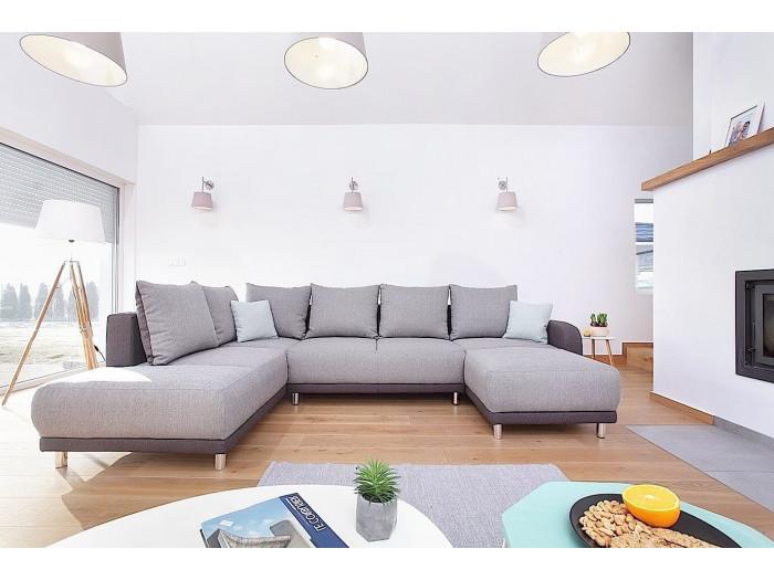 soldes bobochic minty panoramique gauche canap d 39 angle convertible bicolore gris clair gris. Black Bedroom Furniture Sets. Home Design Ideas