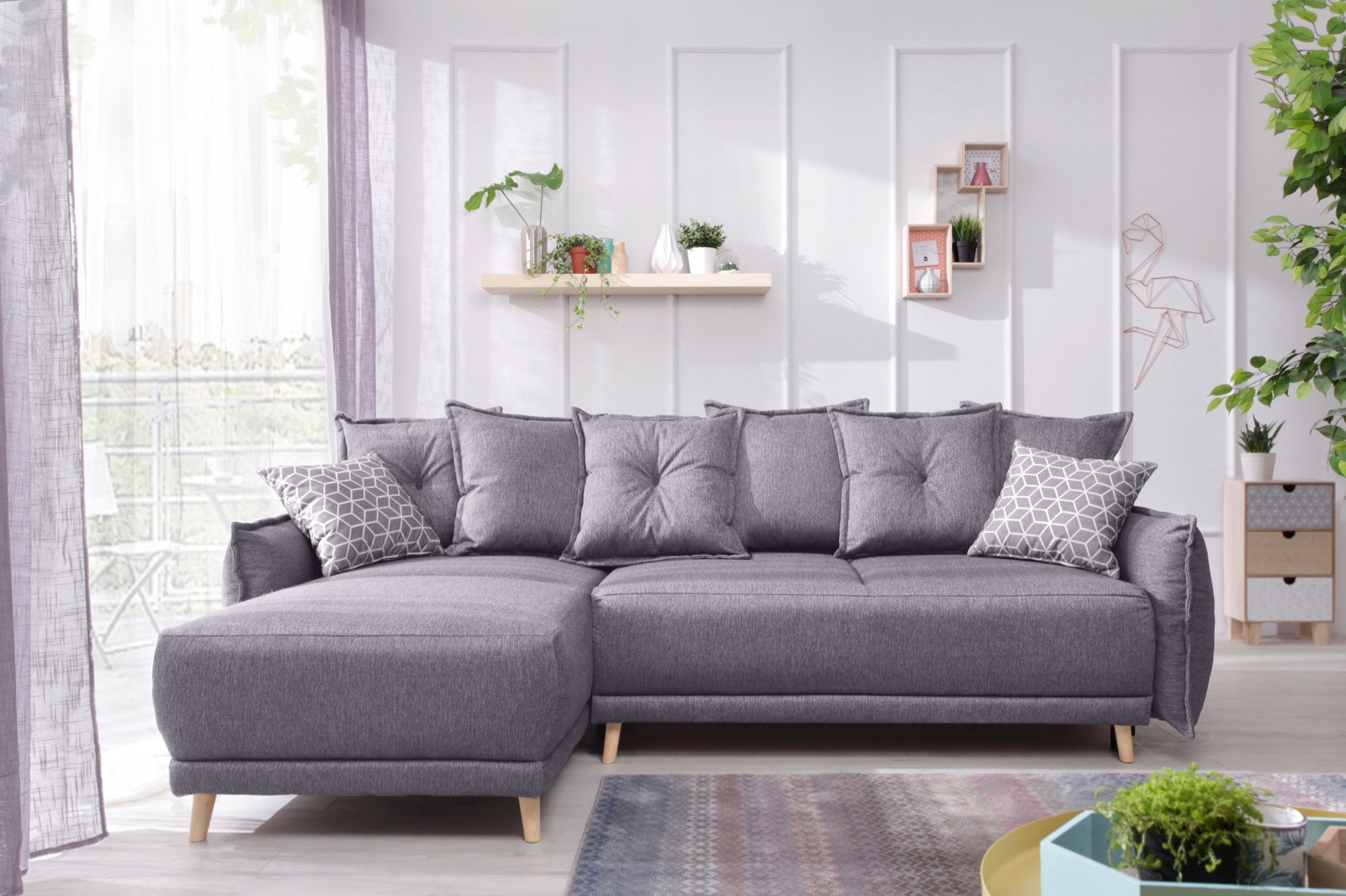 canap d 39 angle r versible convertible coffre lena bobochic. Black Bedroom Furniture Sets. Home Design Ideas
