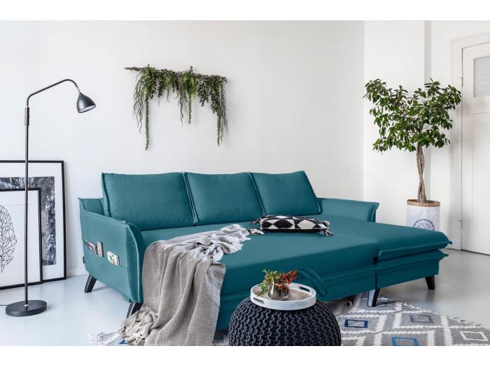 Canapé d'angle convertible coffre BOHO
