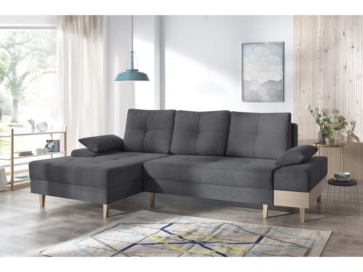 canap d 39 angle convertible avec coffre sven i bobochic. Black Bedroom Furniture Sets. Home Design Ideas