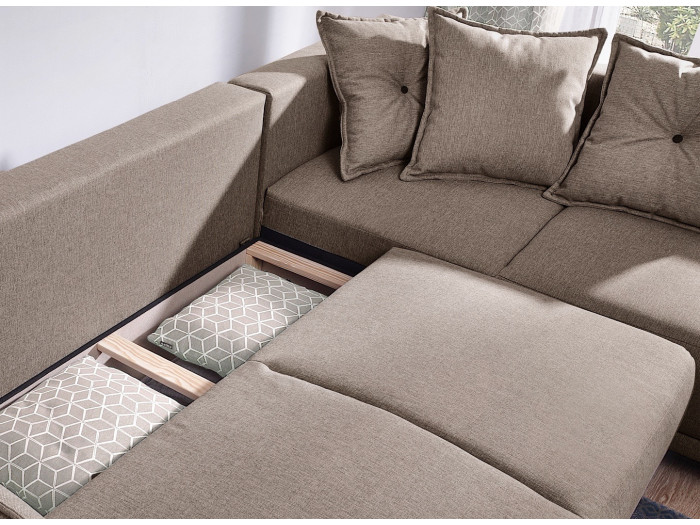 Canapé panoramique LENA convertible coffre