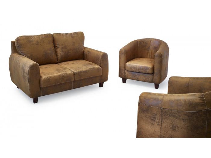 Ensemble Canapé 2 places FELICITA + 2 fauteuils