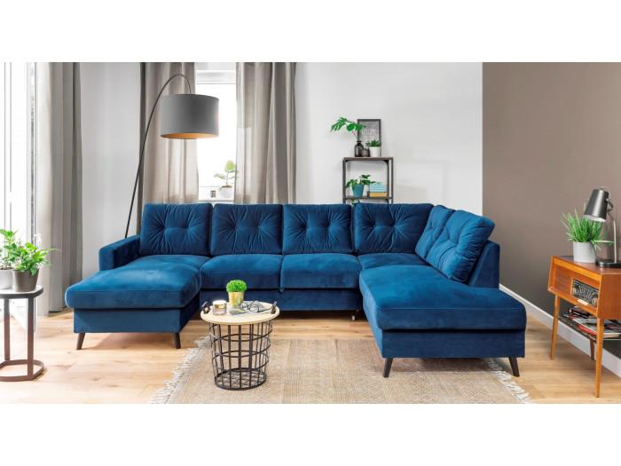 Sofa z widokiem z miękkim dachem mini velvet XXL SCANDI