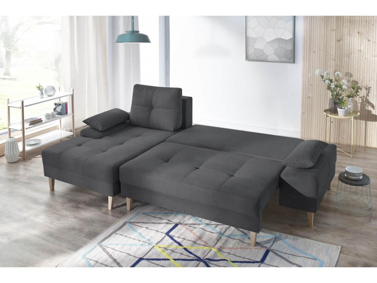 canap d 39 angle convertible avec coffre sven ii bobochic. Black Bedroom Furniture Sets. Home Design Ideas