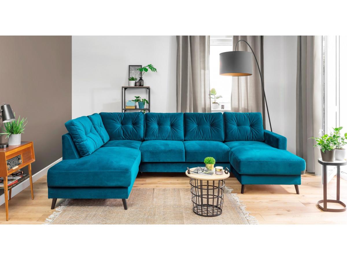 Sofa fixed panoramic Velvet XXL SCANDI