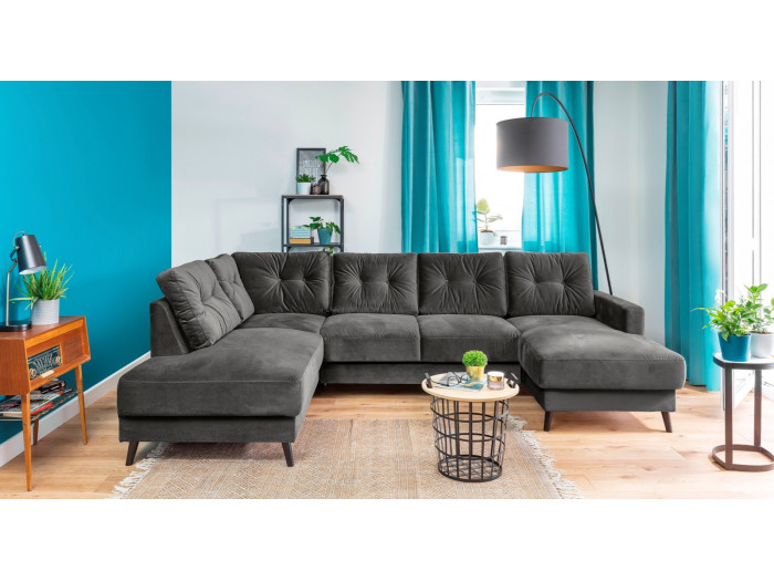 Sofa fixed panoramic Velvet XXL SCANDI