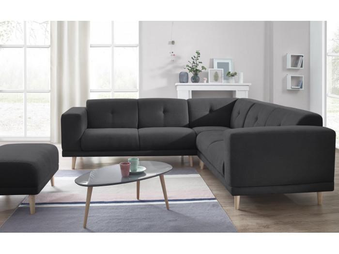 c181df905fc Canapé panoramique fixe avec pouf LUNA