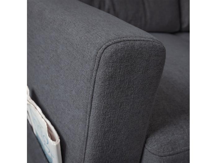 Canapé d'angle anti-tache convertible avec coffre SCANDI DELUXE