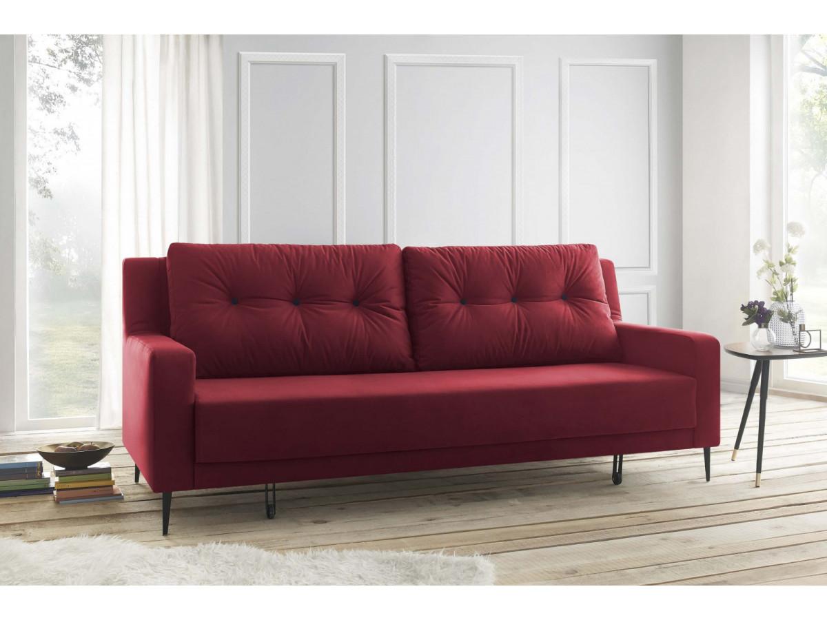 canap droit convertible velours bergen bobochic. Black Bedroom Furniture Sets. Home Design Ideas