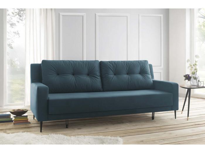 Sofa Right Convertible Velvet Bergen Bobochic