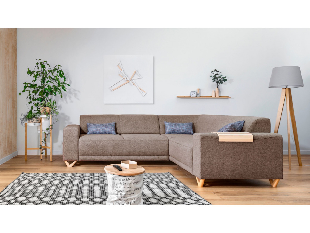 Corner sofa fixed panoramic BELLA