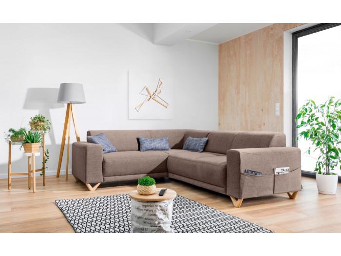 Corner sofa fixed panoramic BELLA