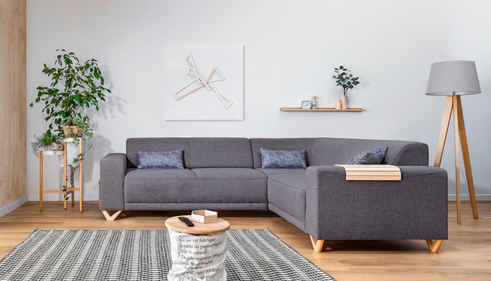 Corner Sofa Fixed Panoramic Bella Bobochic