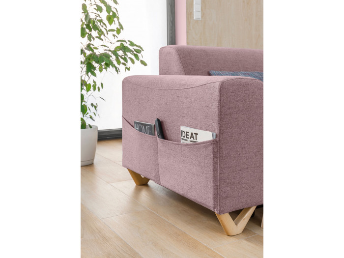 Sofa narożna panoramiczny z miękkim dachem mini-BELLA