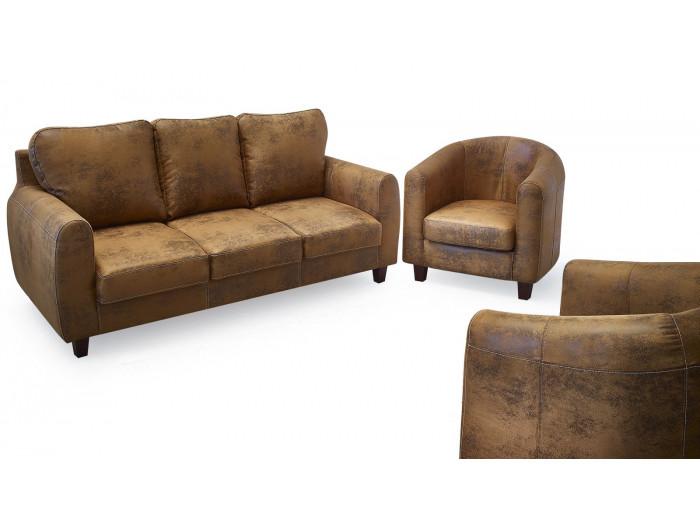 Ensemble Canapé FELICITA 3 places + 2 fauteuils