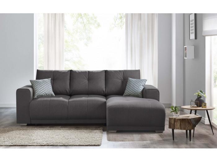 Corner convertible sofa + bookshelf LISBONA