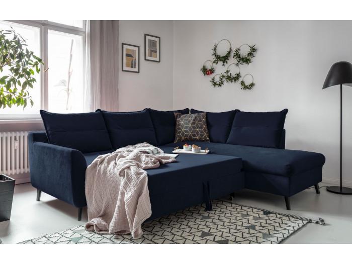 Canapé d'angle convertible coffre Lacanau