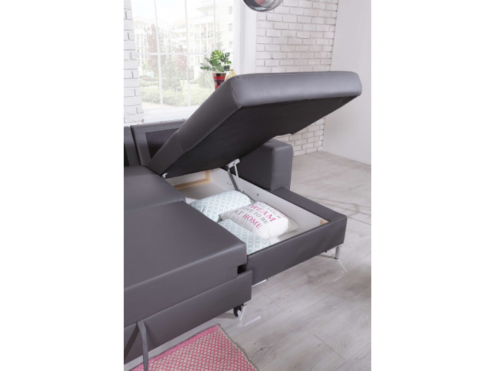 Sofa U-convertible trunk